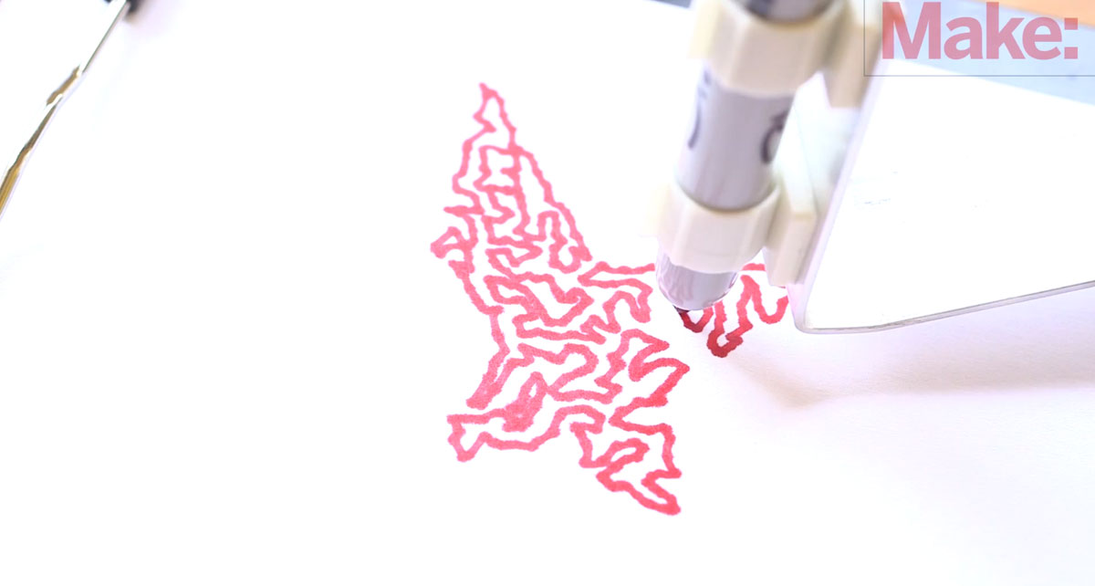A DIY Mechanical Robotic Arm That Can Draw You Favourite Drawings-