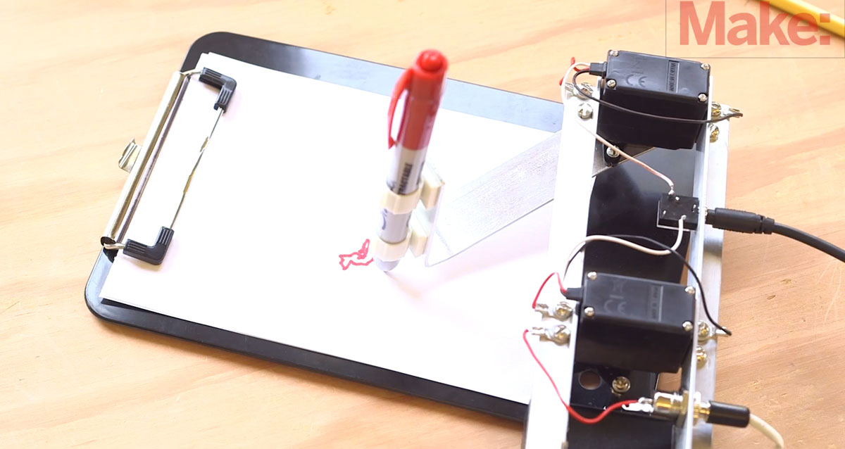 A DIY Mechanical Robotic Arm That Can Draw You Favourite Drawings-2