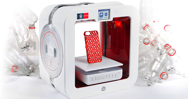 Ekocycle Cube: A 3D Printer That Uses Recycled Coca Cola Bottles As Filament-
