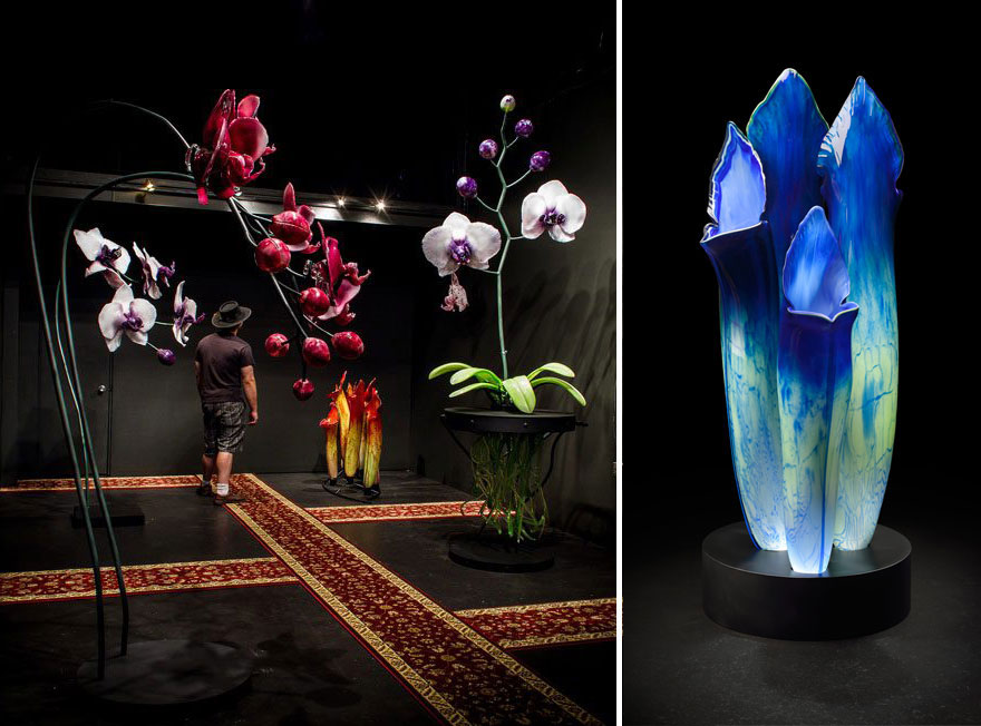 Gigantic And Realistic Flower Sculptures Made From Glass -11