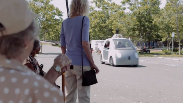People Experience Google Car Without Steering Wheel For The First Time-