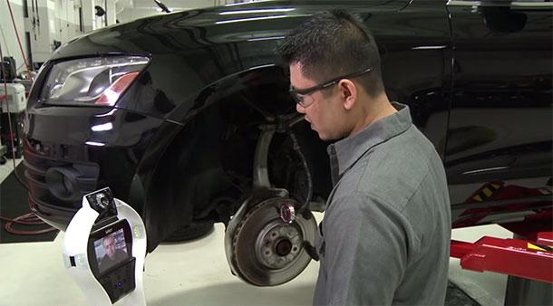 Audi Testing A Robotic Assistant For Automobile Mechanics-