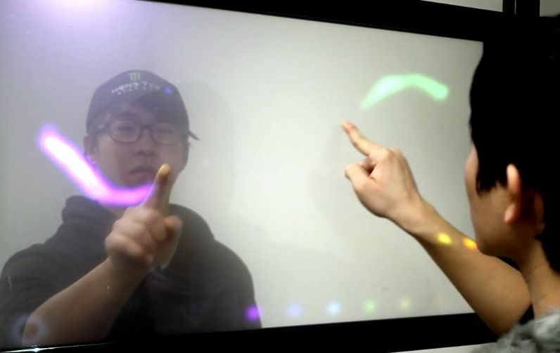 TransWall: A Transparent Double-Sided Interactive Touch Screen-1