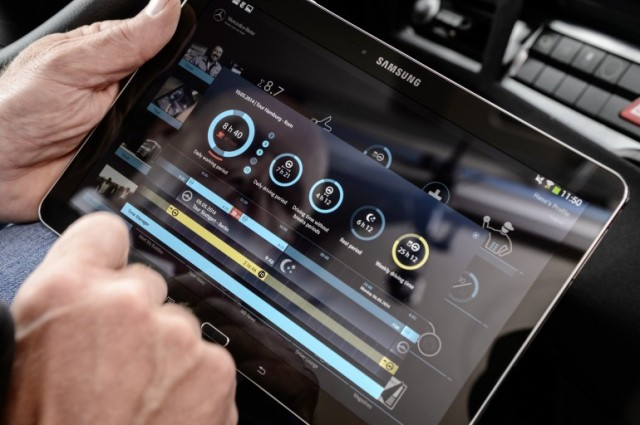 future truck 2025 with tablet