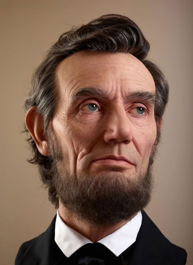 Abraham Lincoln-10 Amazingly Life Like Computer Generated 3D Portraits OF Famous Characters-2