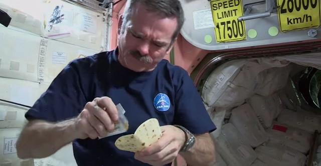 How an astronaut makes a sandwich