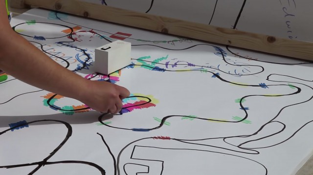 Colour Chaser: A Robot That Creates A Melody From Your Drawing-