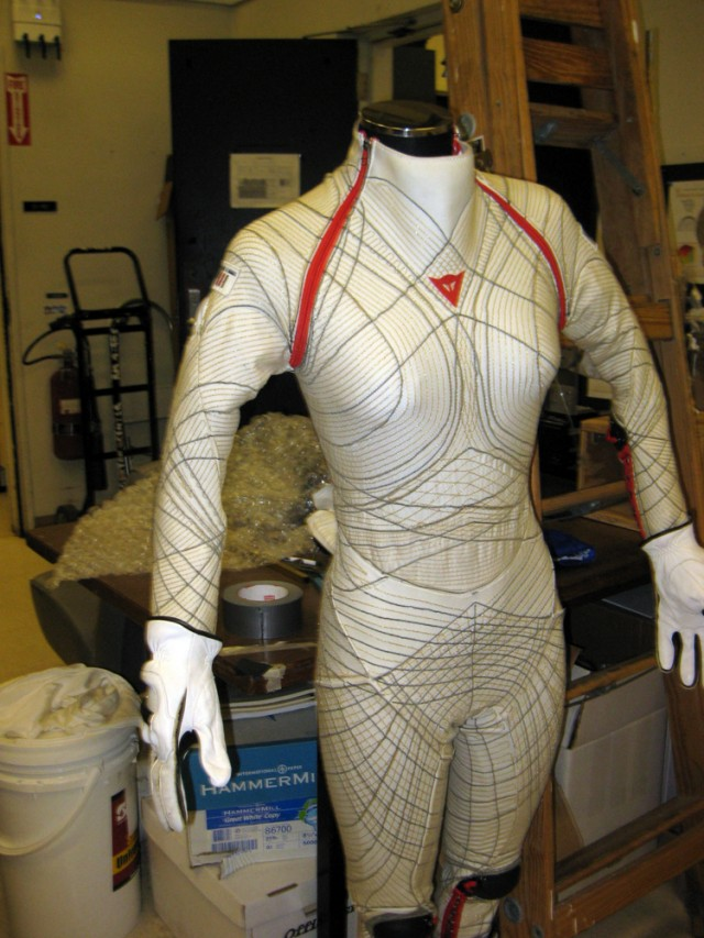 woman in tight space suit - photo #2