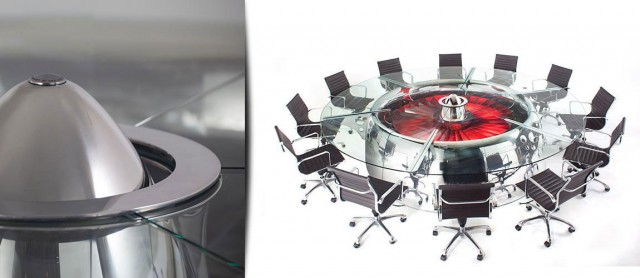 This Amazing Conference Table Is Actually A Huge Jet Engine-