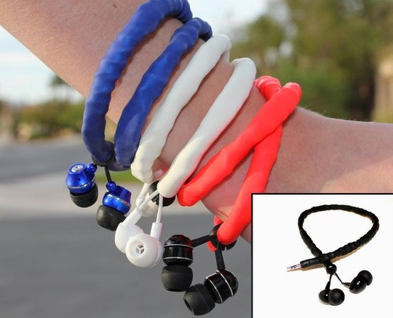 Bracelet shaped headphones -20 Stylish Audio Headphones To Enjoy Your Favorite Music-13