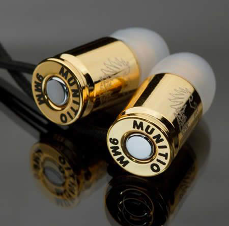 A bullet-shaped earphone-20 Stylish Audio Headphones To Enjoy Your Favorite Music-8