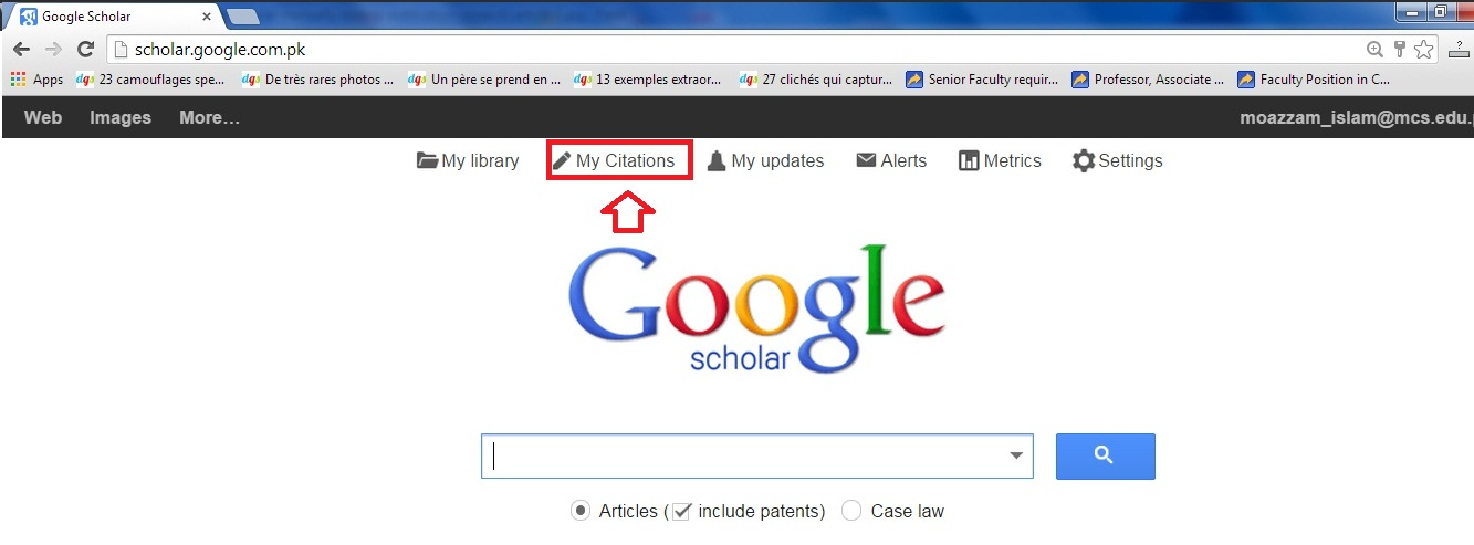 how to search google scholar for articles