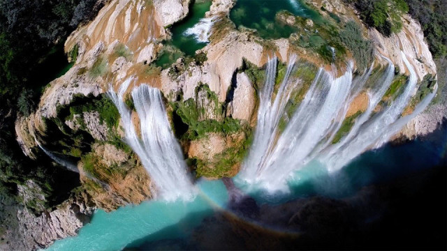 Tamil Falls in the state of San Luis Potosi, Mexico-