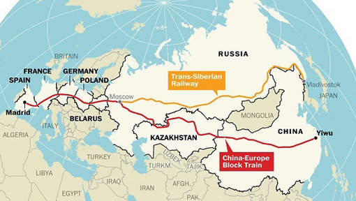 "China's ""New Silk Route"" Becomes World's Longest Railway Line-"