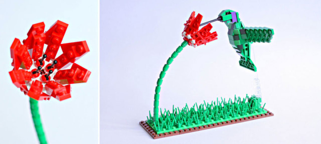 Amazing Bird Models Made Using Simple LEGO Bricks-