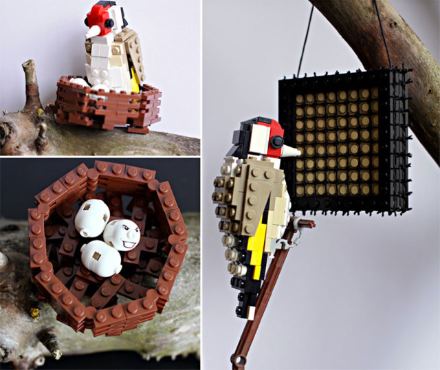 Amazing Bird Models Made Using Simple LEGO Bricks-15