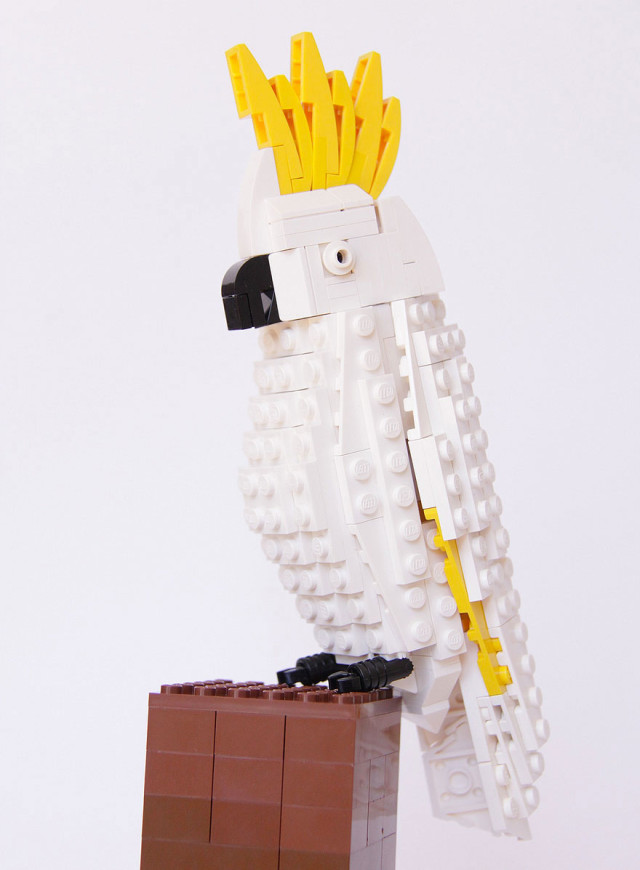 Amazing Bird Models Made Using Simple LEGO Bricks-6