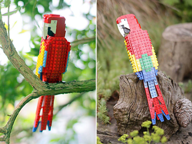 Amazing Bird Models Made Using Simple LEGO Bricks-7