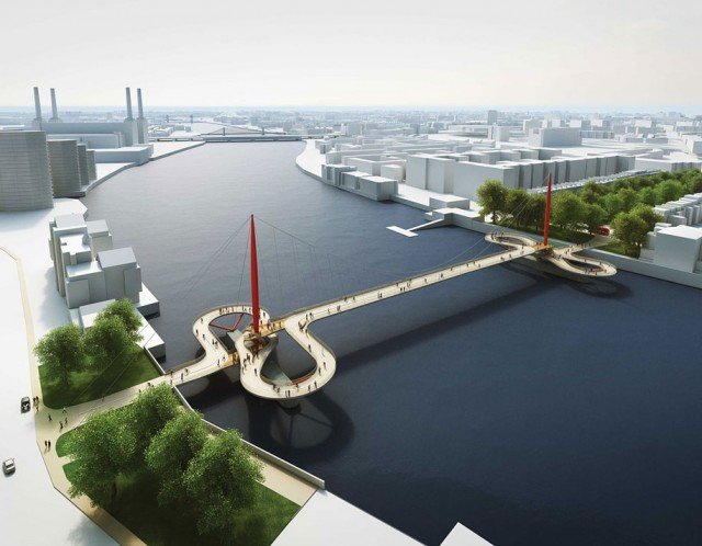 12 Most Beautiful Designs For The Planned Pedestrian Bridge In London-5