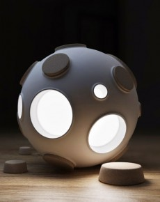 Control The Intensity Of This Innovative Moon Lamp By Plugging Craters