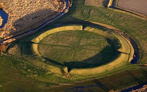 7. A Viking fortress in Denmark