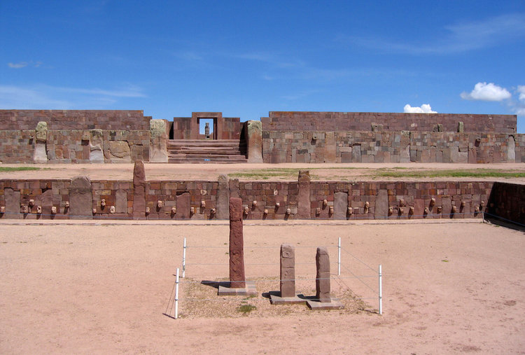 A buried pyramid in the Tiwanaku site in Bolivia