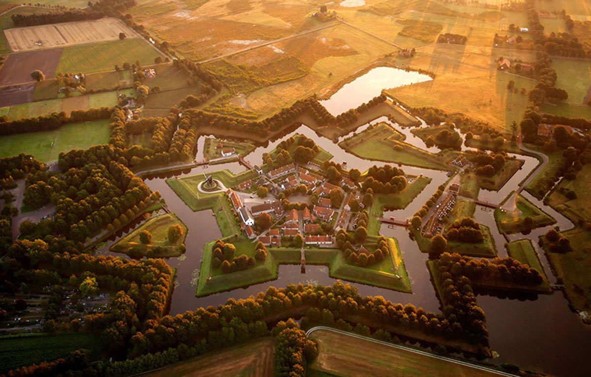 Fortified village of Bourtange, Netherlands-21 Most Beautiful Places Photographed By Drones Where Overflight Is Illegal Today-1