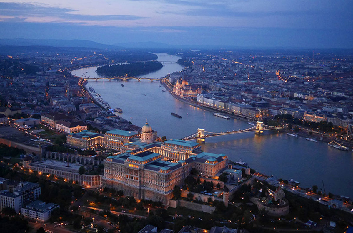 Budavar Palace, Budapest, Hungary-21 Most Beautiful Places Photographed By Drones Where Overflight Is Illegal Today-14