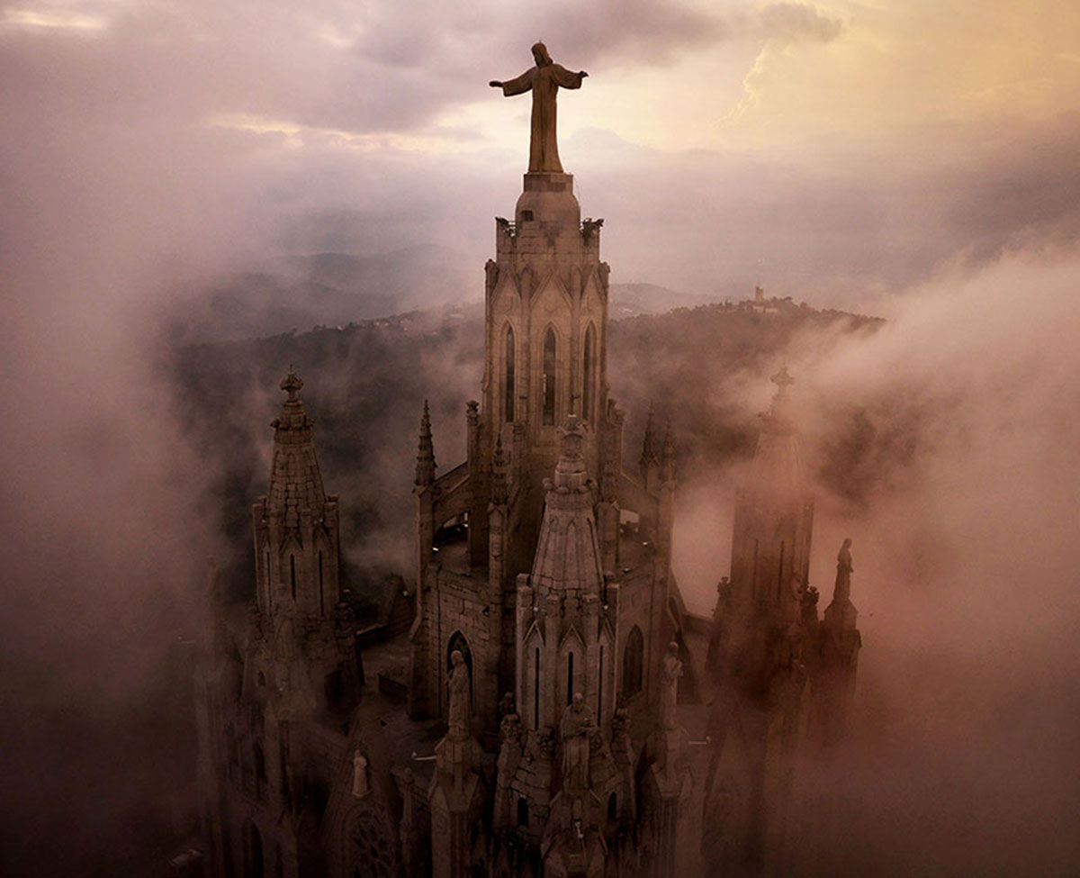 Sagrat Cor, Barcelona, Spain-21 Most Beautiful Places Photographed By Drones Where Overflight Is Illegal Today-2