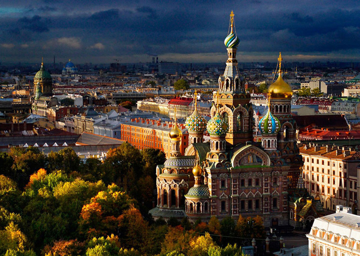 Church On Spilled Blood Spilled Yekaterinburg, Russia-21 Most Beautiful Places Photographed By Drones Where Overflight Is Illegal Today-7