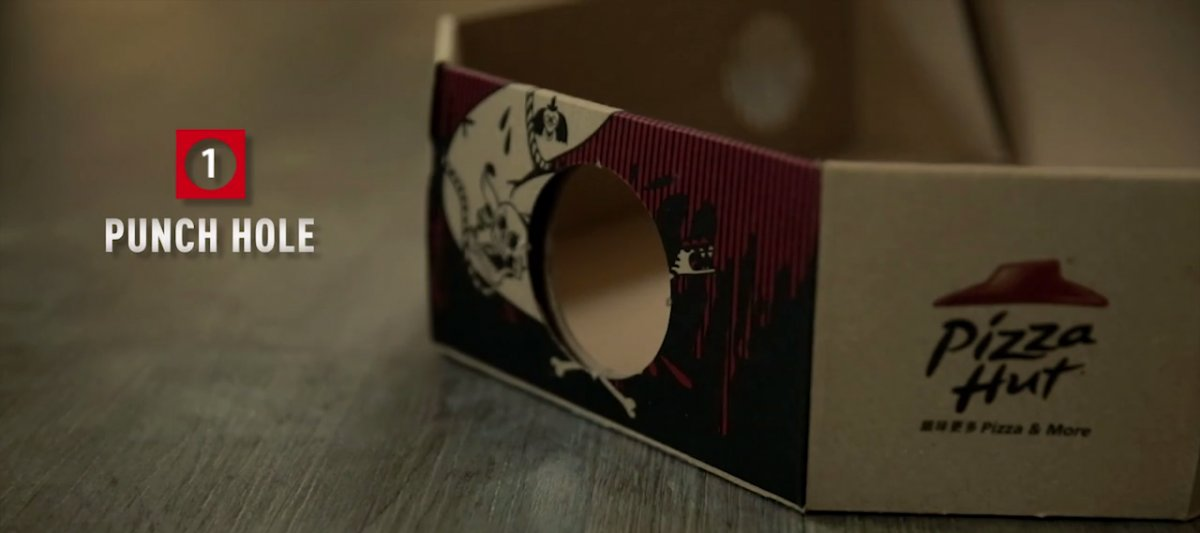 Make A Real Movie Projector From Pizza Hut's New Box Using Smartphone-