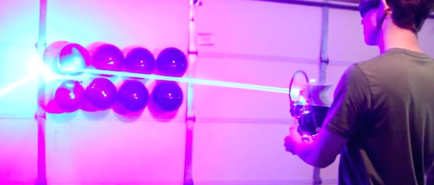 Most Powerful And Deadly DIY 'Laser Shotgun' Destroys The Household Items-1