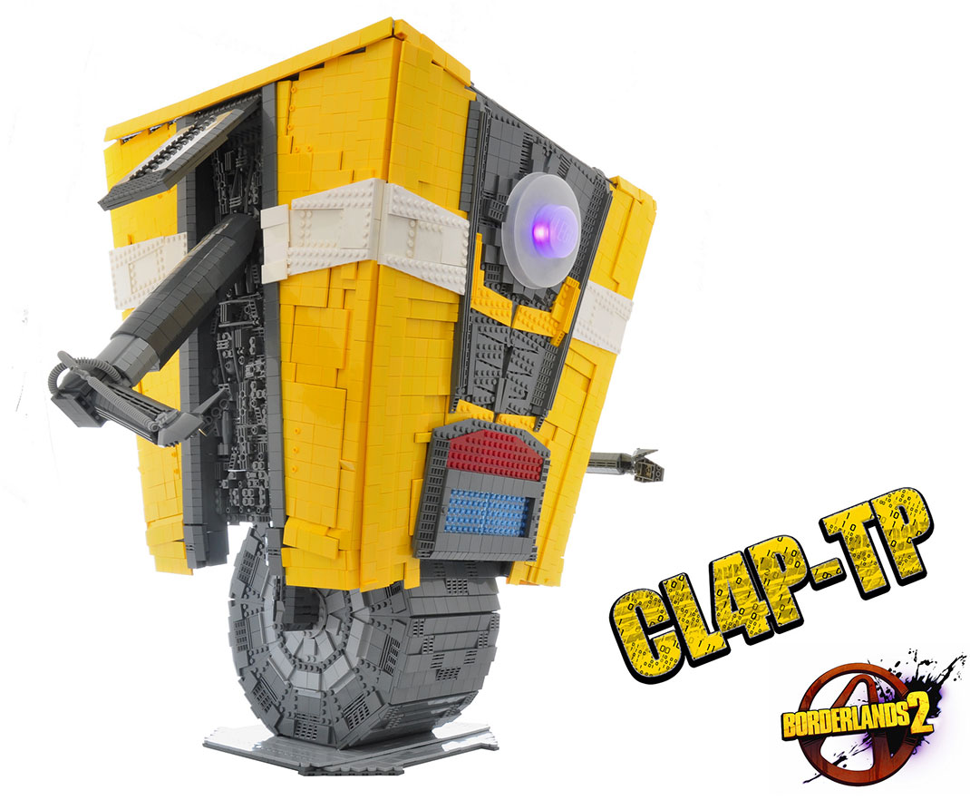 A Passionate Of Borderlands Reproduces Claptrap Robot Using Simple LEGO-