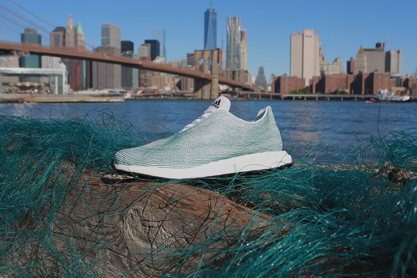 Adidas Fabricates Shoes Made Entirely From Recycled Plastics-