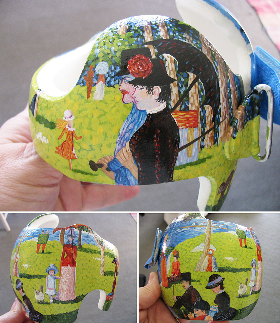 Artist Brings Smiles To Babies By Transforming Their medical Helmets Into Artworks-11