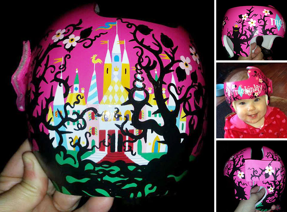 Artist Brings Smiles To Babies By Transforming Their medical Helmets Into Artworks-6