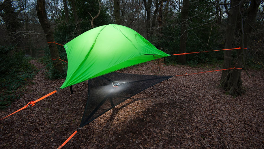 Tentsile New Comfortable Camping Tents Are Suspended From