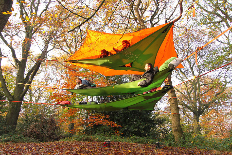 Tenstile: New Comfortable Camping Tents Are Suspended From Trees-3