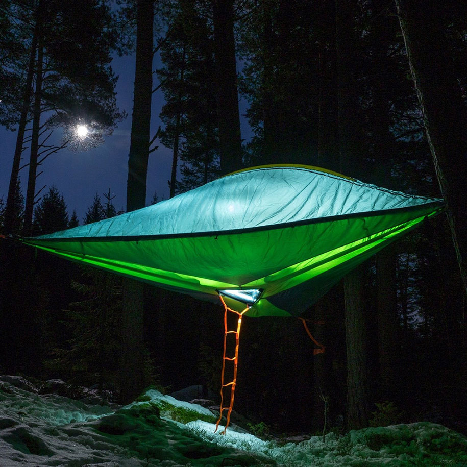 Tenstile: New Comfortable Camping Tents Are Suspended From Trees-6