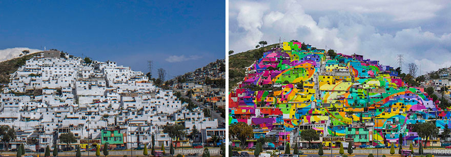 To Unite The Community Against Violence Artists Paint A Mural On 200 Houses -14