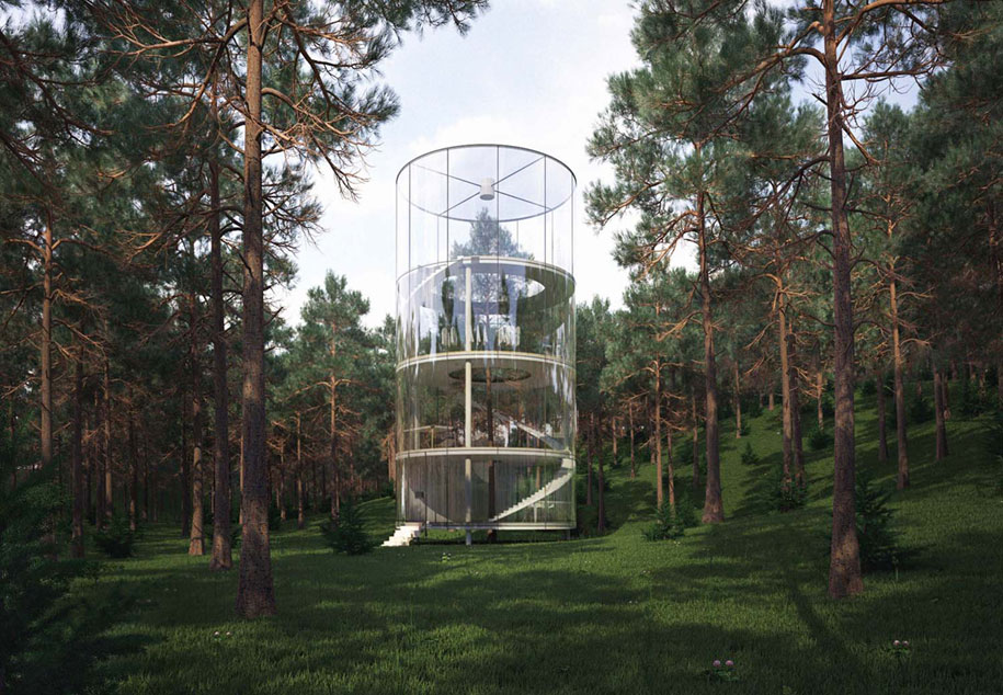 12 Green Tree Houses Built Around The Trees Without Cutting Them
