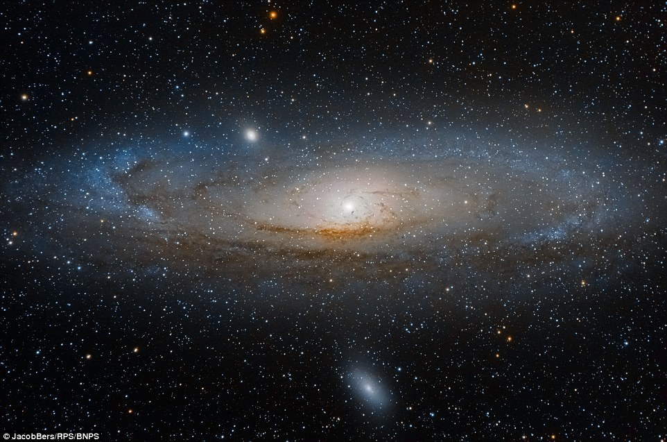 Stunning beauty of Andromeda Galaxy M31 at 2.5 million light years from earth captured using a telescope on earth