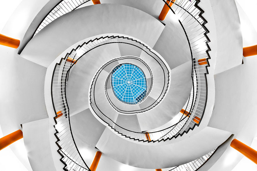 30 Absolutely Mesmerizing Spiral Staircase Designs From Around The World-