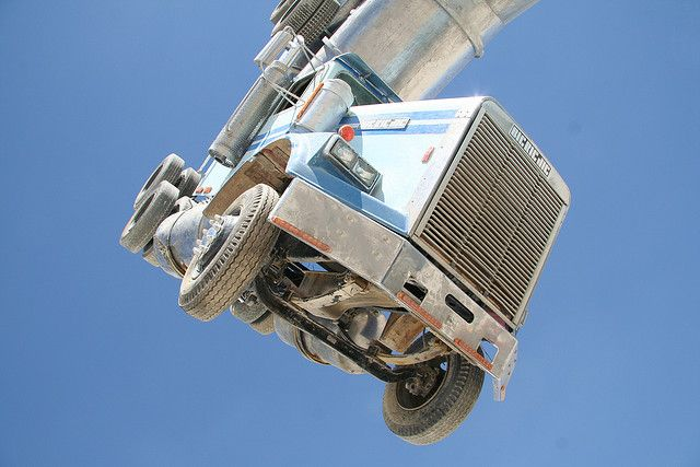 Big Rig Jig: This Monsterous Sculpture Is Made From Two Old Tanker Trucks-4