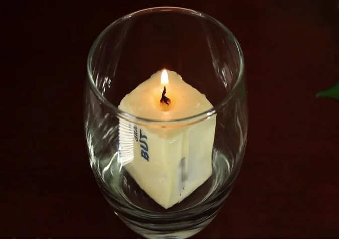 Make-candle-from-butter