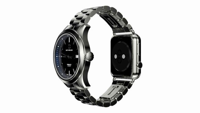 Pinnacle Combines A Classic Luxury Watch With an Apple Watch On Flip Side-1