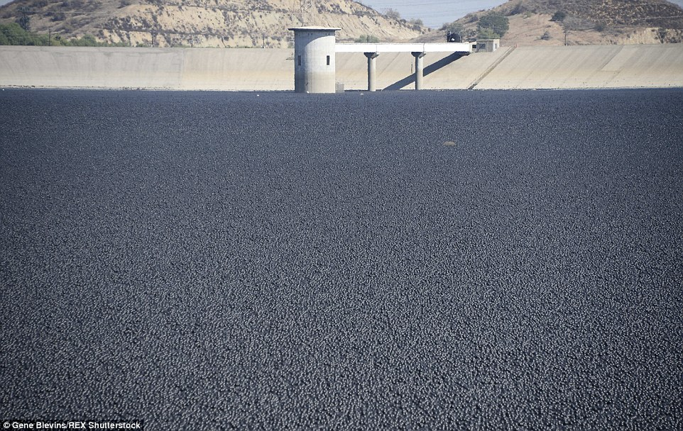 See How 96MILLION Plastic Balls Would Protect LA From Drought-