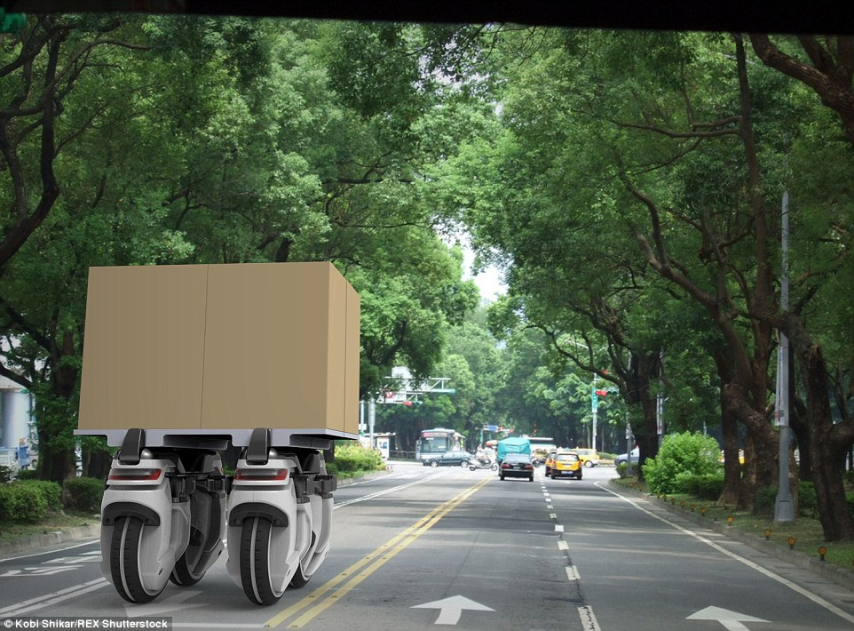 Swarms Of Revolutionary Transwheel Robots Can Collaborate To Carry Heavy Parcels-3