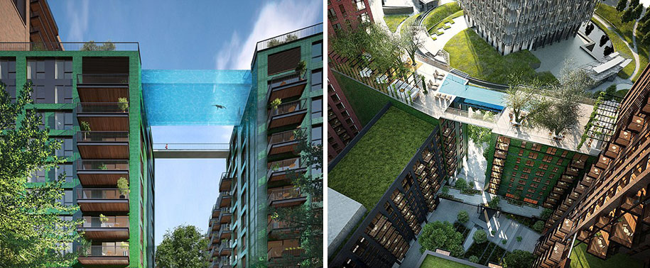 This 115 Feet High All Glass Swimming Pool Would Surely Make You Tremble-1