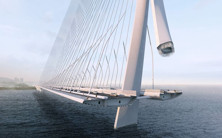 World's Largest Asymmetrical Single Tower Suspension Bridge To Be made In Taipei, Taiwan-5
